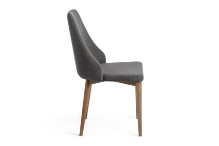 sedia-tessuto-grigio-legno
