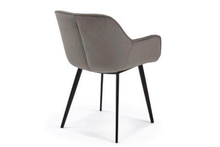 sedia-ufficio-velluto-grigio
